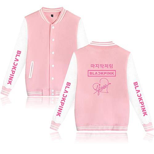 Blackpink Unterschrift Kpop Jacke Baseball Sweatshirt Blackpink Pullover Rose Lisa Jennie Jisoo Fans Freizeitmäntel Langarm Tops Mode Mäntel für Männer Frauen