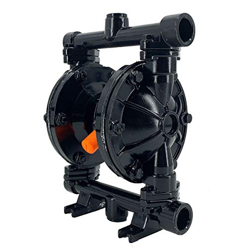 Cozyel Air-Operated Diaphragm Pump Double Diaphragm Pump 1/2 inch Inlet & Outlet, Air Diaphragm Pump Dual Diaphragm Air Pump Polypropylene 13 GPM Max 100PSI
