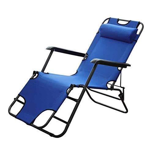 Qiutianchen Cero gravedad plegable tumbonas tumbonas sillas de cubierta jardín playa alfombra al aire libre siesta azul