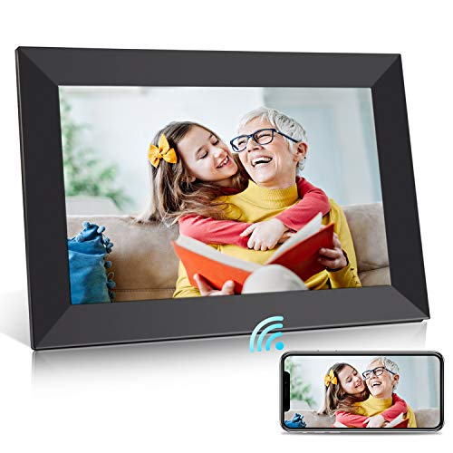 BIGASUO Digital Picture Frame - 10 inch WiFi Digital Frame IPS Touch Screen 1080P Photo Frame, 16GB Large Memory Share Moments Instantly via Mobile APP, Auto-Rotate, Support USB and SD Card