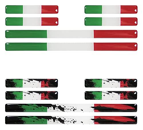 BIKE-label 300123VE - Juego de 12 pegatinas de bandera de Italia para coche o moto