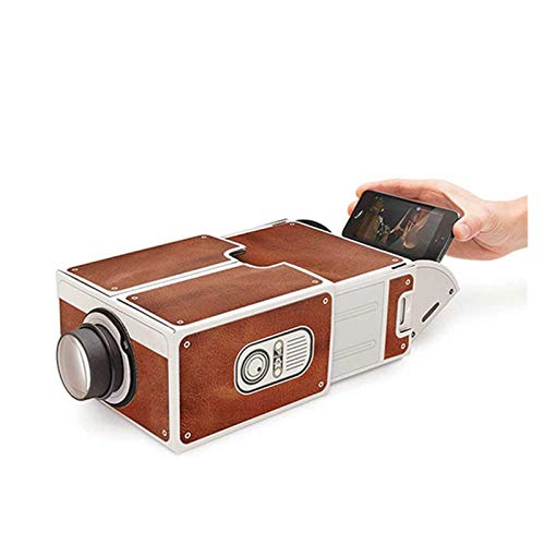 RUNEEE Mini Smart Phone Projector Cinema Portable Home Use DIY Cardboard Projector Family Entertainment Projective Device