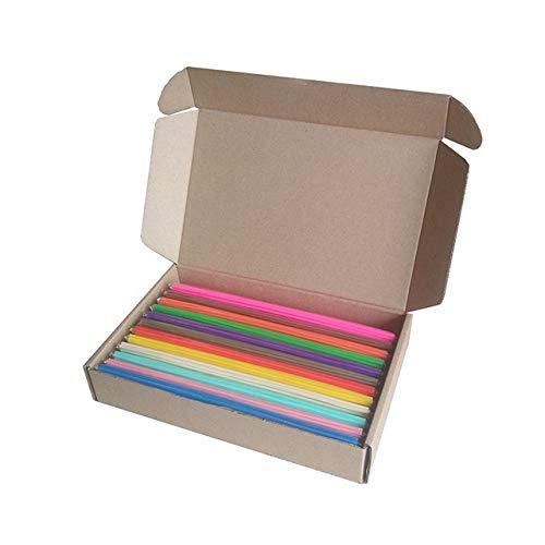 DZWLYX PCL Doodler Filament Stylo 3D Recharges matériau ECO-Plastique Ne Pas être échaudage for Commencer doodler Fournitures Stylos Couleur 3D (Color : 50Pcs x 12 Colors)