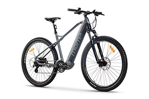 Moma Bikes Bicicleta Eléctrica E-MTB 29', Shimano 24vel, frenos hidráulicos, batería Litio 48V...