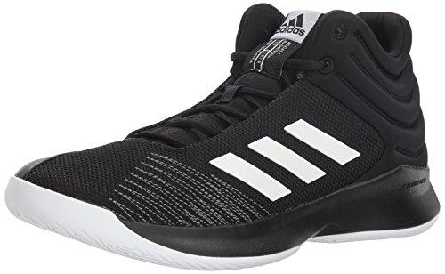 adidas Herren Pro Spark 2018 Basketballschuh, Schwarz (schwarz/weiß/grau), 43 EU
