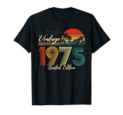 Vintage 1975 T-Shirt Limited Edition Men Women - 45 Birthday T-Shirt