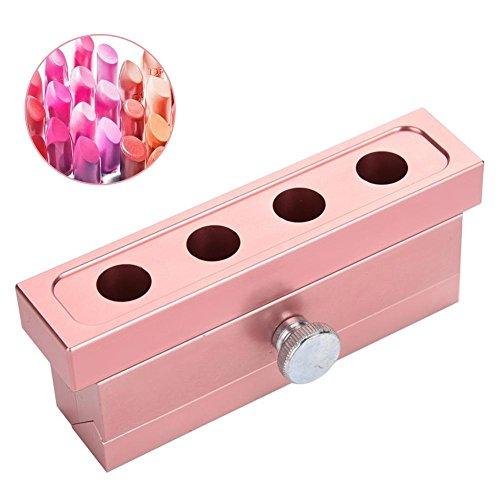 DIY Lippenstift Form Aluminiumlegierung Lippenbalsam DIY, Lippenstift Maker Form, Lippenbalsam machen Tool Kit Set(4 Loch Lippenstiftform)