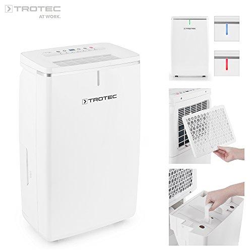 TROTEC Komfort Luftentfeuchter TTK 72 E (max.24 L/Tag), geeignet für Räume bis 125 m³ / 50 m²