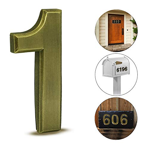 3D Silver Metal Self-Stick Door House Numbers 2 pcs Mailbox Numbers 0 Street Address Plaques Numbers for Residence and Mailbox Signs,2-3//4 Inch