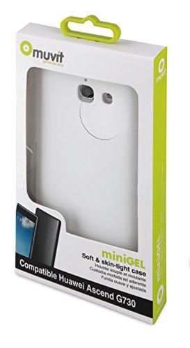 Muvit Minigel - Funda para Huawei G730, blanco