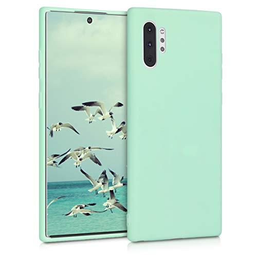 kwmobile Hülle kompatibel mit Samsung Galaxy Note 10 Plus - Hülle Silikon - Soft Handyhülle - Handy Hülle in Mintgrün matt