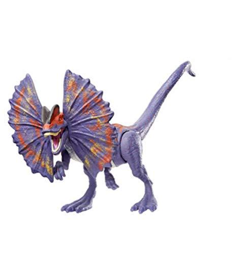 Ltong Dinosaurio Jurásico Dilophosaurus Modelo De Simulación Articulación Móvil Niño Prensa Agua Pulverizada Regalo De Juguete De Plástico (Tamaño De Unos 20 Cm) -Púrpura