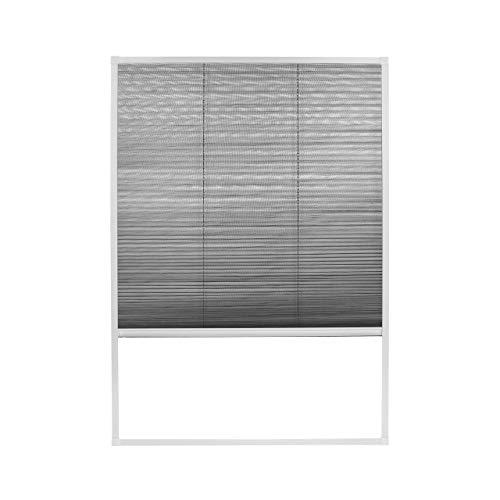 Fliegengitter Insektenschutz Dachfenster Plissee Alurahmen Bausatz 110 x 160 cm weiß