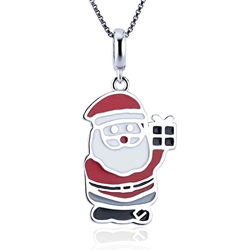 Cerylle Sterling Silver Christmas Santa Claus Charm Pendants for DIY Crafting Necklace Bracelets Jewelry Making