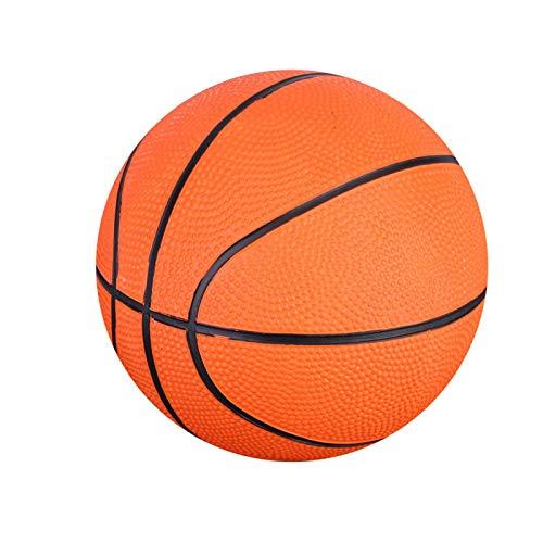 Sicherer aufblasbarer Basketball, orangefarbener Gummi 1 Stück Mini-Basketball, Ballnadeln und Pumps, die Nicht zum Spielen in Innenräumen enthalten sind Sportartikel Kleine