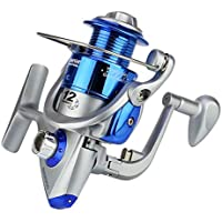 HW155202 Spinning Carbon Fiber Drag Carrete de Pesca de Agua Dulce Ultraligero SA1000-7000 Serie 6BB Plástico Giratorio con balancín de Metal