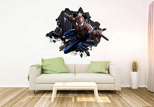 Pegatinas de pared Spider Super Heroe personaliza la etiqueta de la pared de etileno y amp;arte de palo80*120CM