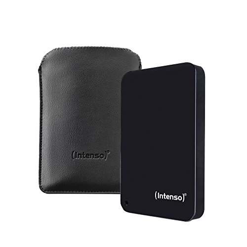 Intenso Memory Drive 2TB Externe Festplatte inklusive Tasche, 6,4 cm (2,5 Zoll), 5400rpm, 8MB Cache, USB 3.0) schwarz