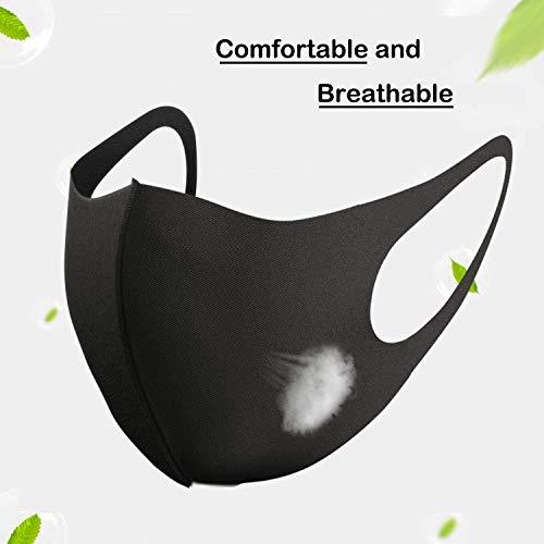 11 Stück Allwetterschutzstücke, Atmungsaktiv, Wiederverwendbar und Waschbar, Geeignet für Outdoor-Aktivitäten, Schwarze - 4