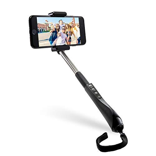 Polaroid - Asta telescopica per selfie, con telecomando Bluetooth integrato nell'impugnatura, per dispositivi con fotocamera e Bluetooth iOS e Android e fotocamere digitali