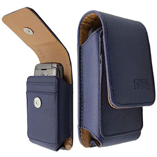 caseroxx Ledertasche mit Gürtelschlaufe für Doro 7050/7060, Tasche (Ledertasche mit Gürtelschlaufe in blau)