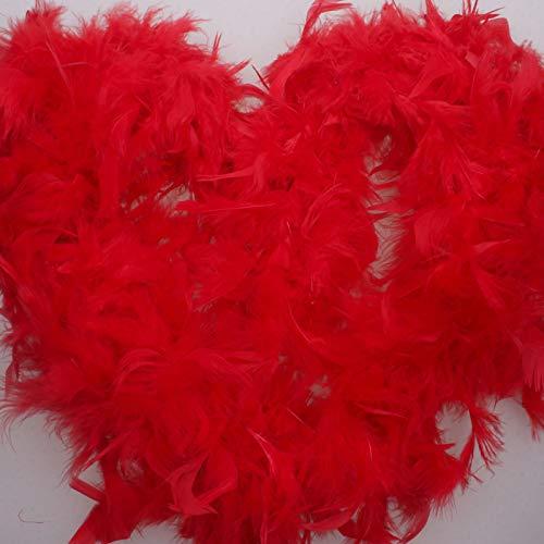 Lanyifang 2m Boa di Struzzo in Piume Soffici per Mestiere Costume Nozze Decorazione di Festa (Rosso)