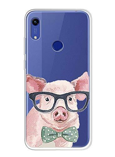 Oihxse Compatible pour Coque Xiaomi Mi Note 10/Note 10 Pro Étui Liquid Crystal Ultra Mince Transparent TPU Silicone Housse Protection Bumper Souple Mignon Modèle Anti-Rayures Case(Cochon)