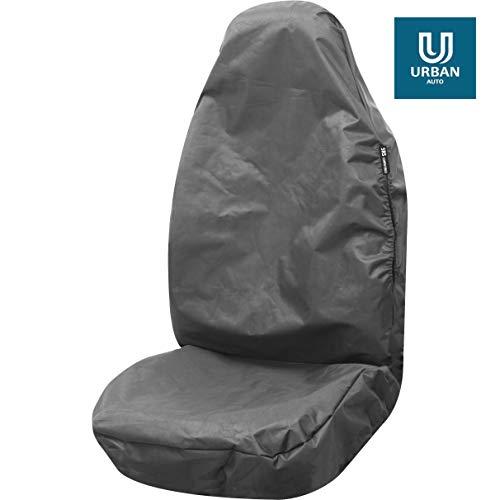 Fundas de asiento para asiento individual resistente, color gris totalmente impermeable para adaptar