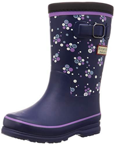[ヒロミチナカノ] レインブーツ 靴 防寒 防滑 ゆったり 14~19cm キッズ HN WC171R ネイビー 16 cm 2E
