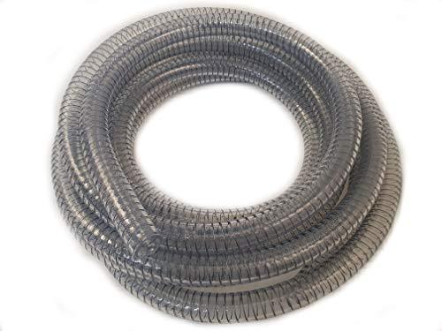 HeRo24 PVC Spiralschlauch Saugschlauch Druck & Förderschlauch 25 mm / 10 m Transparent