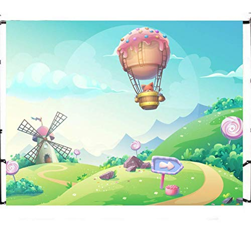 Cartoon Hot Air Balloon Backdrops Wall Photography Background Celebration Event Banner Photo Studio Booth Props Background