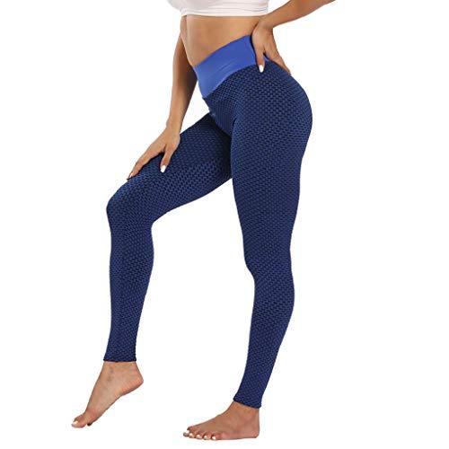 CMTOP Pantaloni da Yoga Leggings Donna Sportivi Anticellulite Pantaloni Nido d'Ape 3D Leggings...