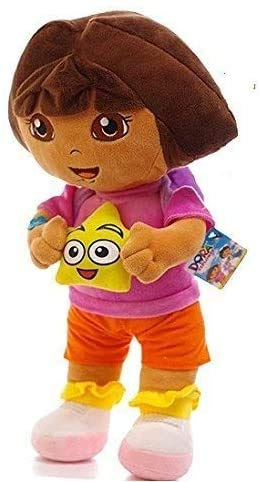 Dora The Explorer Plush 9.8 Inch / 25cm Dora Star Doll Stuffed Animals Figure Soft Anime Collection Toy
