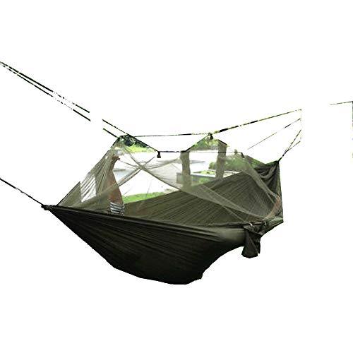 Novopus Hamac:Swift Outdoor Hamac de Camping avec Filet à Moustique Extérieur Portable, Bonne Ventilation Nylon, Coton pour 1 Personne Chasse/Pêche/Randonnée - Vert Véronèse:Vert Véronèse