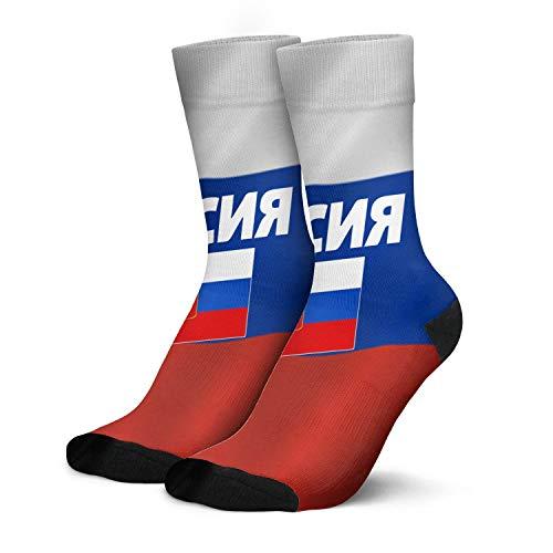 Sports Crew Socks Russia-Flag-Pullover-Russian-Poccna- Running Socks Compression Socks Moisture Wicking