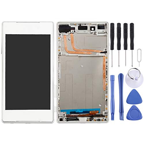 DUANDETAO LCD Screen and Digitizer Full Assembly with Frame for Sony Xperia Z5(Black) LCD Screen Phone Spare Parts (Color : White)