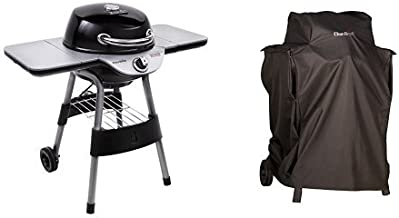 Char-Broil Electric Patio Bistro 240 - Black with Patio Bistro Cover