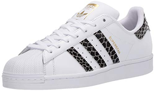 adidas Originals Women's Superstar Sneaker, White/Black/Gold Metallic, 10