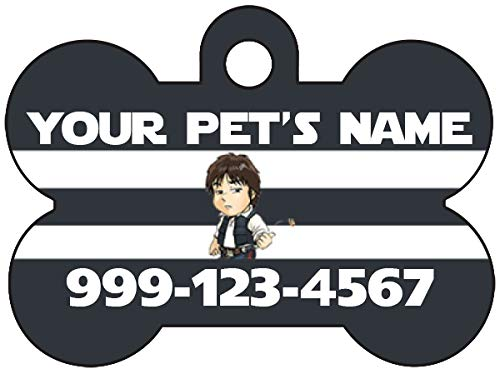 Star Wars Han Solo Pet Id Dog Tag Personalized w/ Name & Number