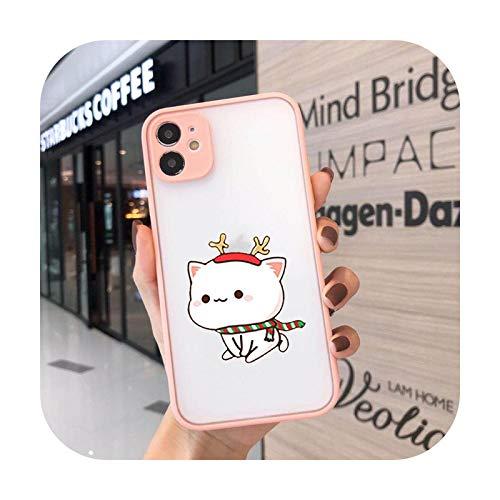Funda para iPhone 12 11 Pro Xs 8 7 6S Plus XS Max XR SE 2020 I Love U Couple Phone Cover Clear Case - 4 para iPhone XS