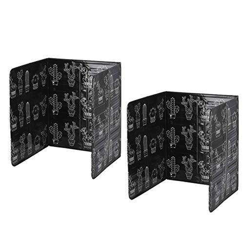 Cabilock 2 Piezas Protector Contra Salpicaduras Protector de Papel de Aluminio Protector Contra Salpicaduras de Aceite Divisor de Escritorio Tablero de Escudos de Privacidad