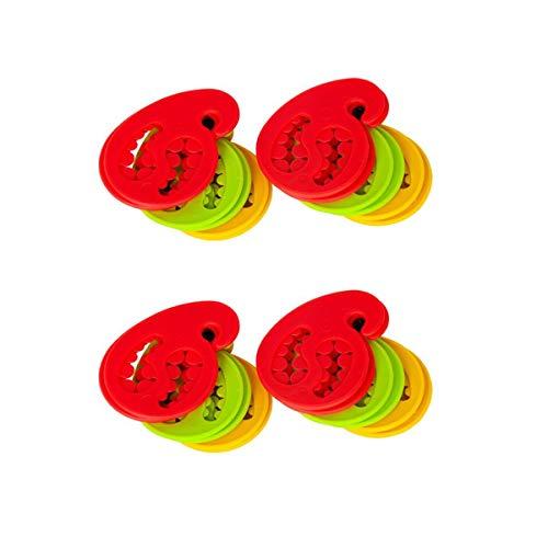 Gravidus Sockensammler - 24 Stück Rot, Gelb, Grün gemischt - Sockenhalter Sockenclip Sockensortierer Sockenklammer Wäscheklammer Sockenaufhänger Paarungshelfer Mehrfarbig aus Silikon