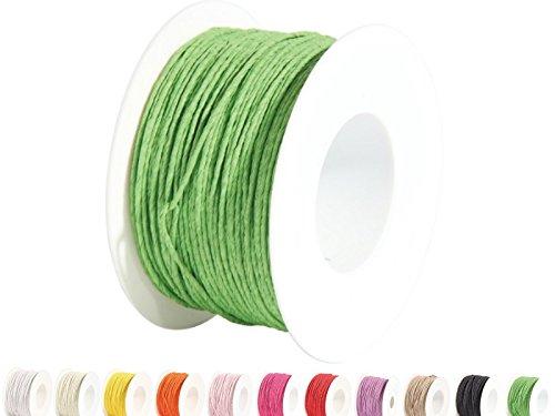 Qualitäts Papierdraht Deko-Draht Ø 2mm x 100m - in vielen Farben (Grün)
