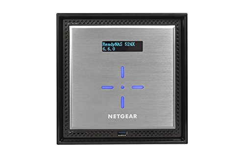 Netgear RN524X00-100NES ReadyNAS 524X Diskless Network Attached Storage, 4-Bay
