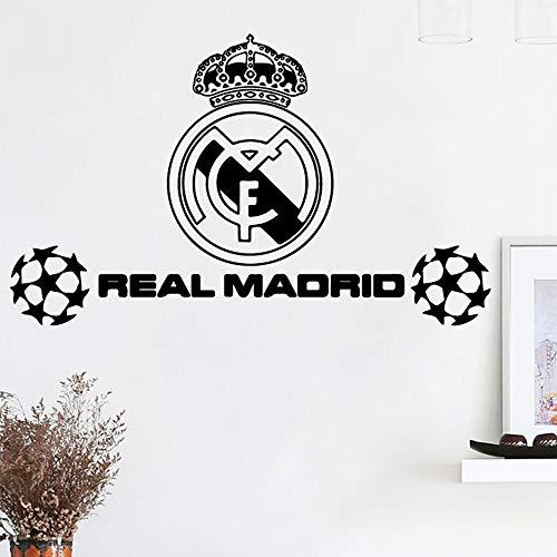 zzlfn3lv Arte Real Madrid fútbol fútbol Pegatinas de Pared Personalizado Creativo para Habitaciones de niños Dormitorio de Nursery Decoración Decoración de Pared 40 * 70 cm