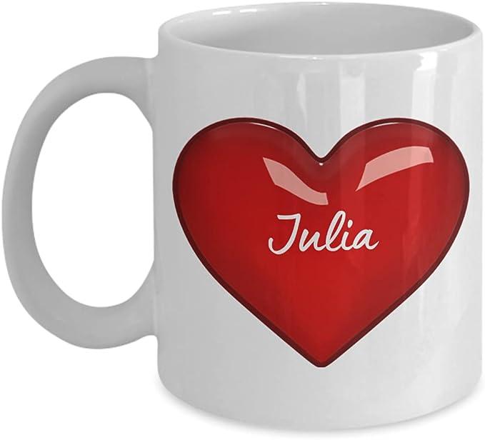 I Love Julia Mug - Personalized Coffee Mugs