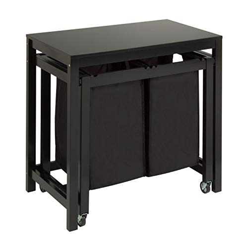 Honey-Can-Do Double Sorter Folding Table SRT-03571 Black 19 by 32-Inch