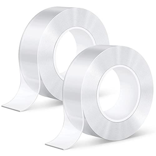 Doppelseitiges Klebeband extra stark, kinkaivy 10M Nano Tape Spurloses Waschbares Klebeband, Wiederverwendbares Klebebänder, Transparent Klebeband Wasserdichtes Rutschfest Multifunktionales