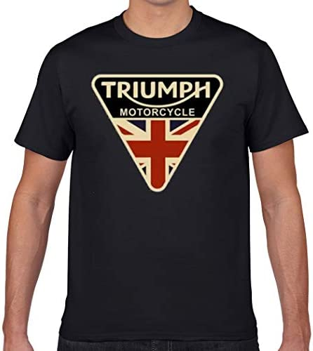 Triumph Motorcycle British Flag T Shirt Cotton Summer Man Tee Elasticity Loose Printing Crewneck product image