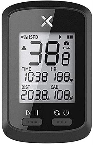 XXT Bicicleta GPS ordenador versión inglesa inalámbrica (color negro, tamaño: talla única)